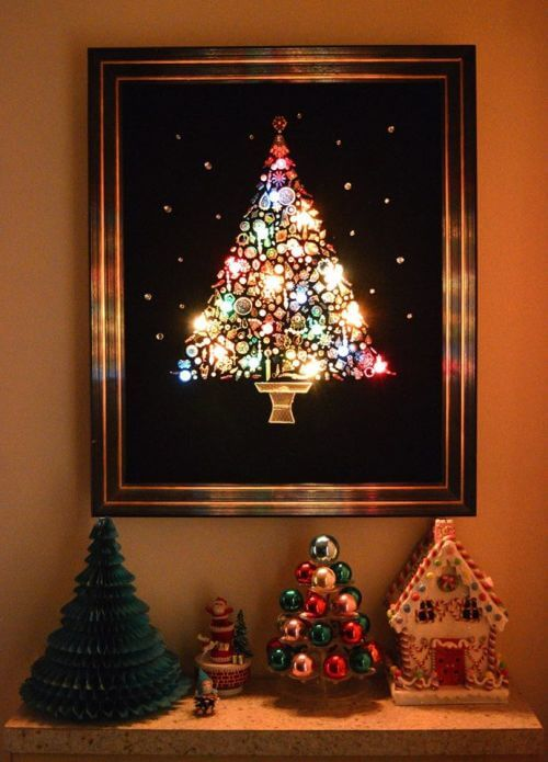vintage-costume-jewelry-christmas-trees-with-lights