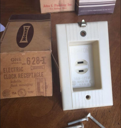 Mid Century Kitchen Wall Clock Recessed