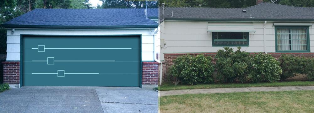 Mid Century Modern Garage Door