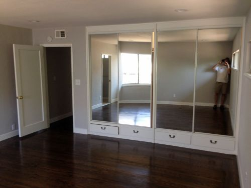 built in sliding door closets