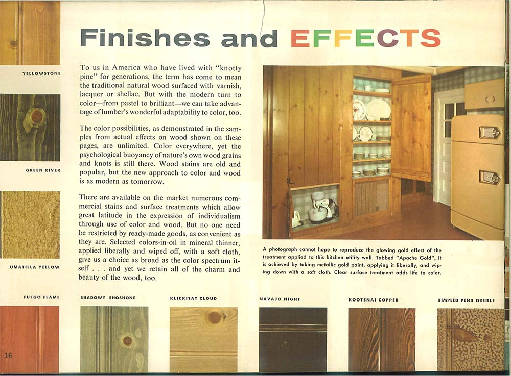 Finishes Of Vintage Knotty Pine Paneling