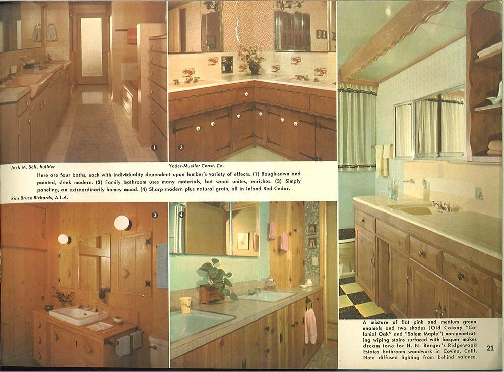 Vintage Knotty Pine Bathroom