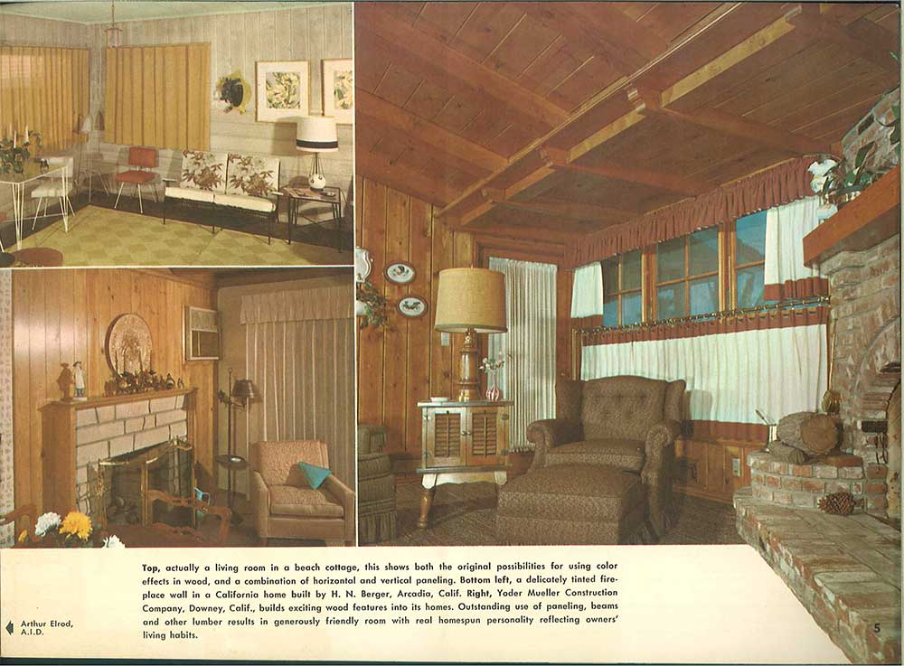 101 Design Ideas To Decorate Knotty Pine 24 Page Catalog From 1960