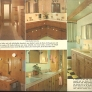 vintage knotty pine bathroom