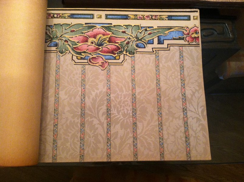 vintage wallpaper books from 1928 filled with stunning