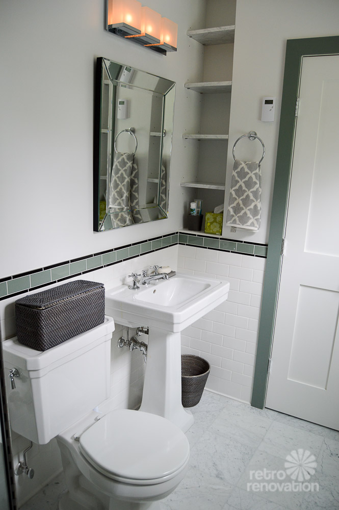 Amy 39 s 1930s bathroom remodel classic and elegant retro for Bathroom ideas 1930s semi