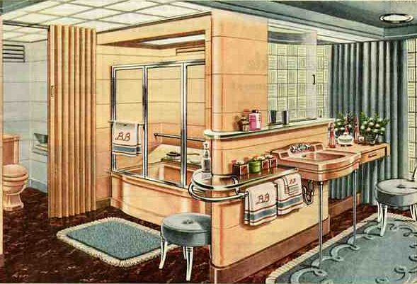 21 ideas for your 1940s ranch bungalow or cape 40s for 1940s bathroom decor