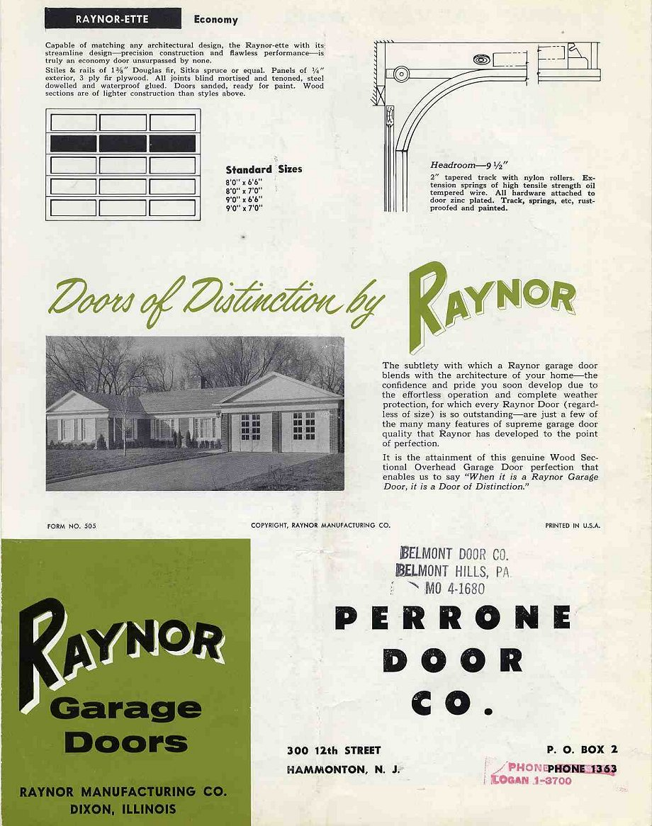 6 Pages Of Ideas For Garage Doors From The 1950s Retro