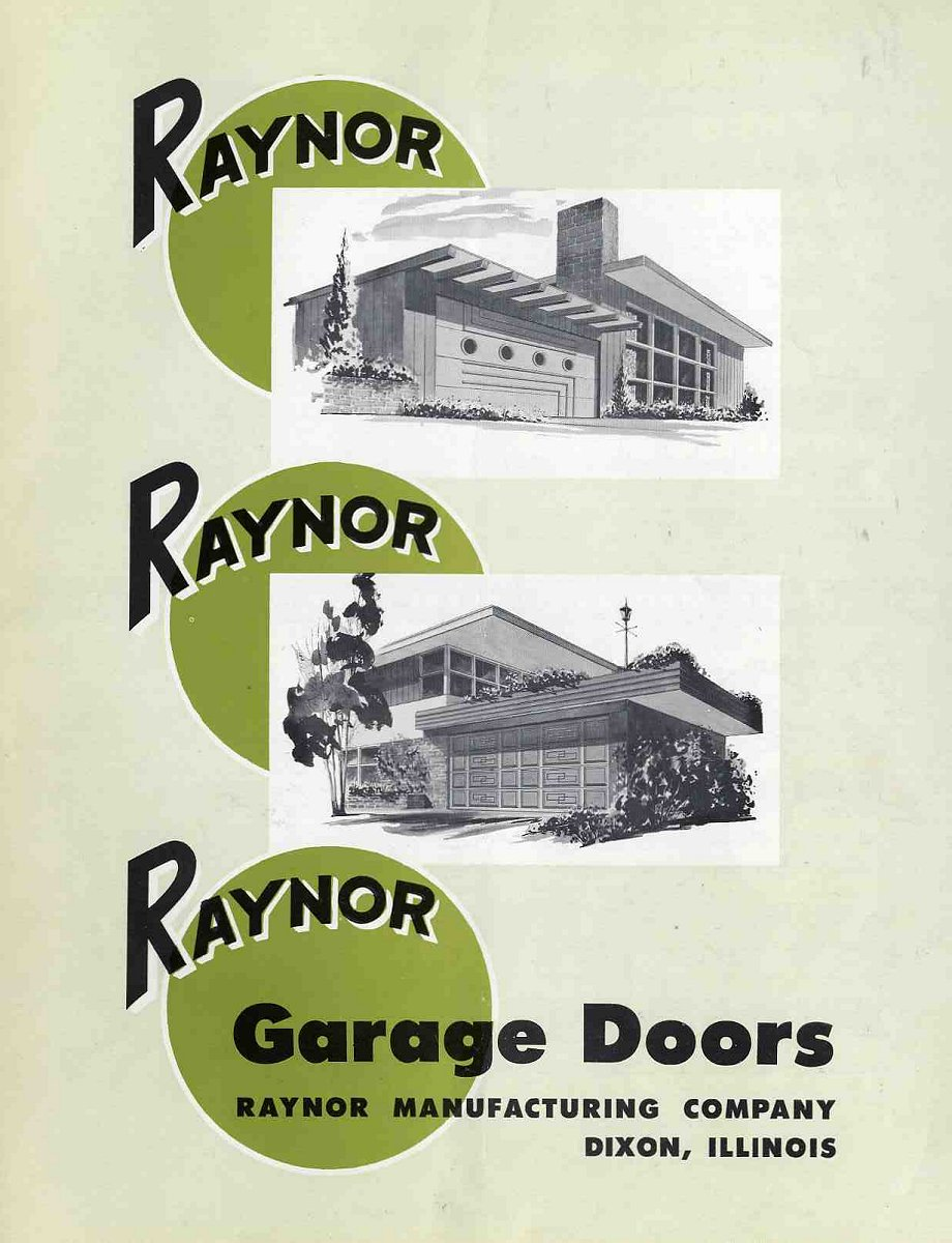 6 pages of ideas for garage doors from the 1950s - Retro Renovation