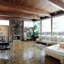 mid-century-living-room-fireplace