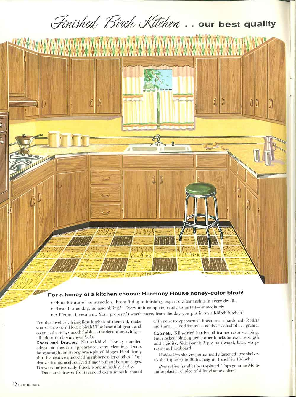 1958 Sears kitchen cabinets and more - 32 page catalog