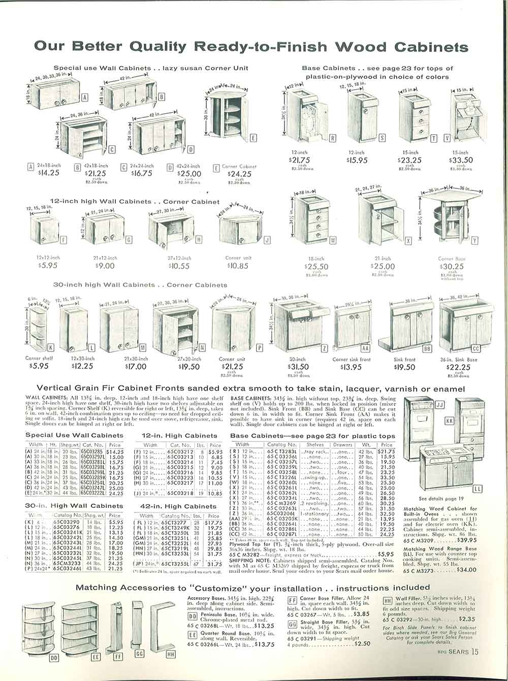 Retro Kitchen Cabinet Sizes Sears 1958 Amazing Ideas