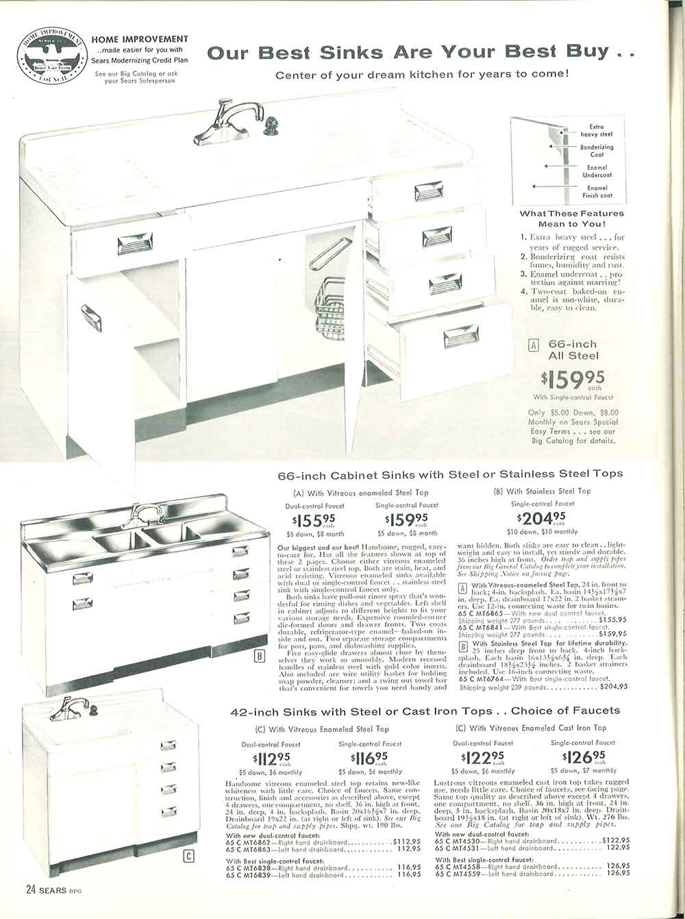1958 sears kitchen cabinets and more - 32 page catalog - retro