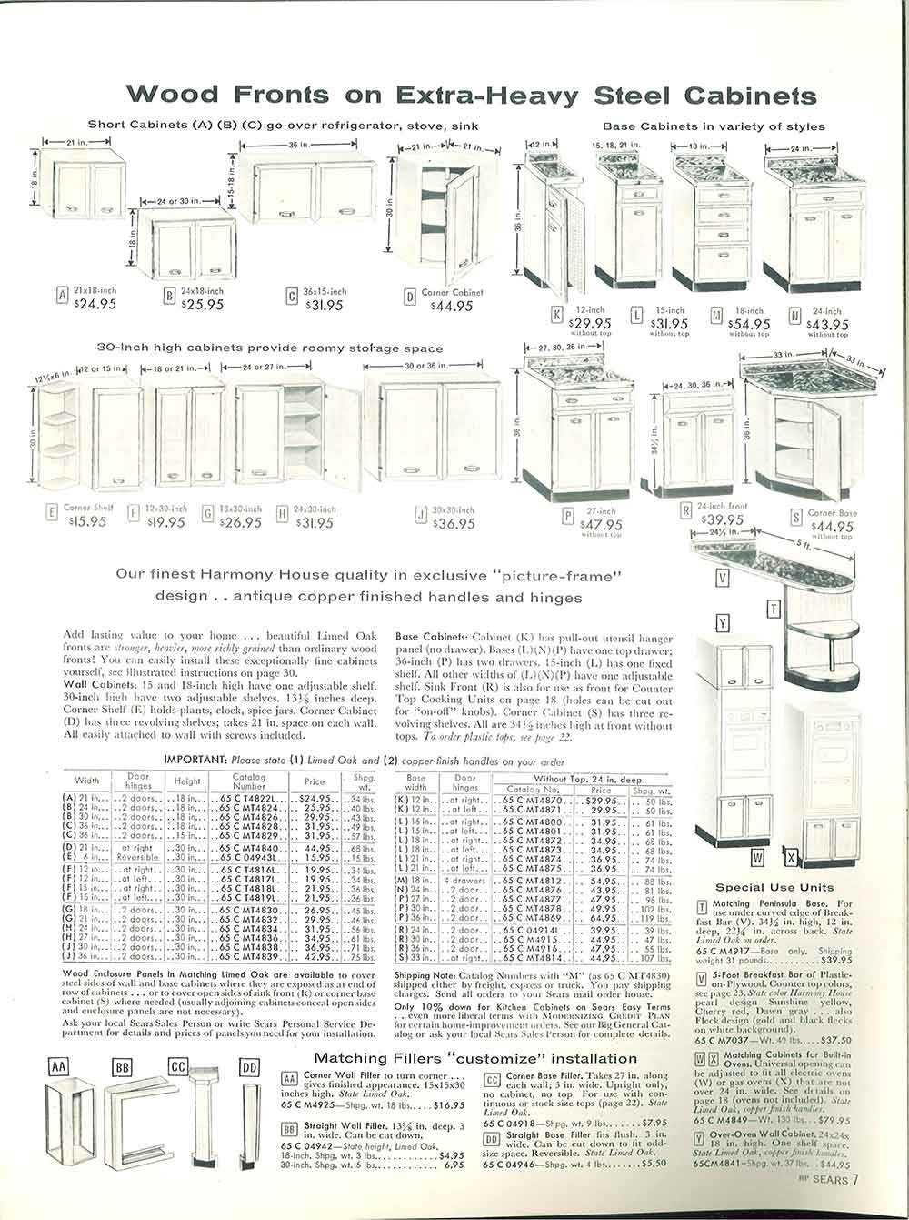 1958 Sears Kitchen Cabinets And More 32 Page Catalog