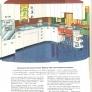 White red and black vintage retro kitchen