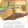 retro 1950s wood cabinets kitchen