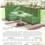 vintage built in banquette seating green
