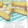 vintage retro kitchen wood cabinets