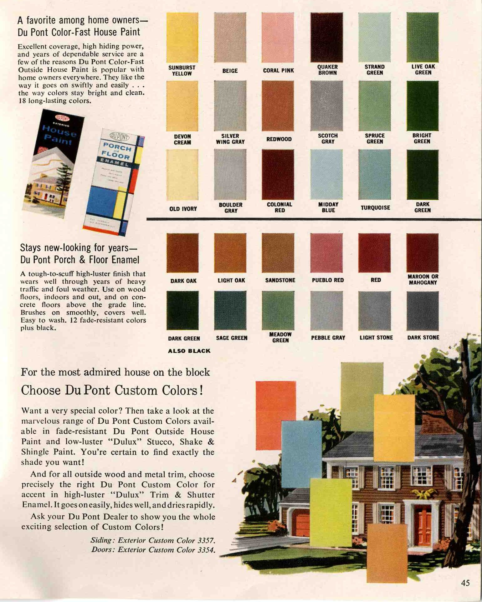 Exterior colors for 1960 houses retro renovation - Paint colors for exterior homes pict ...