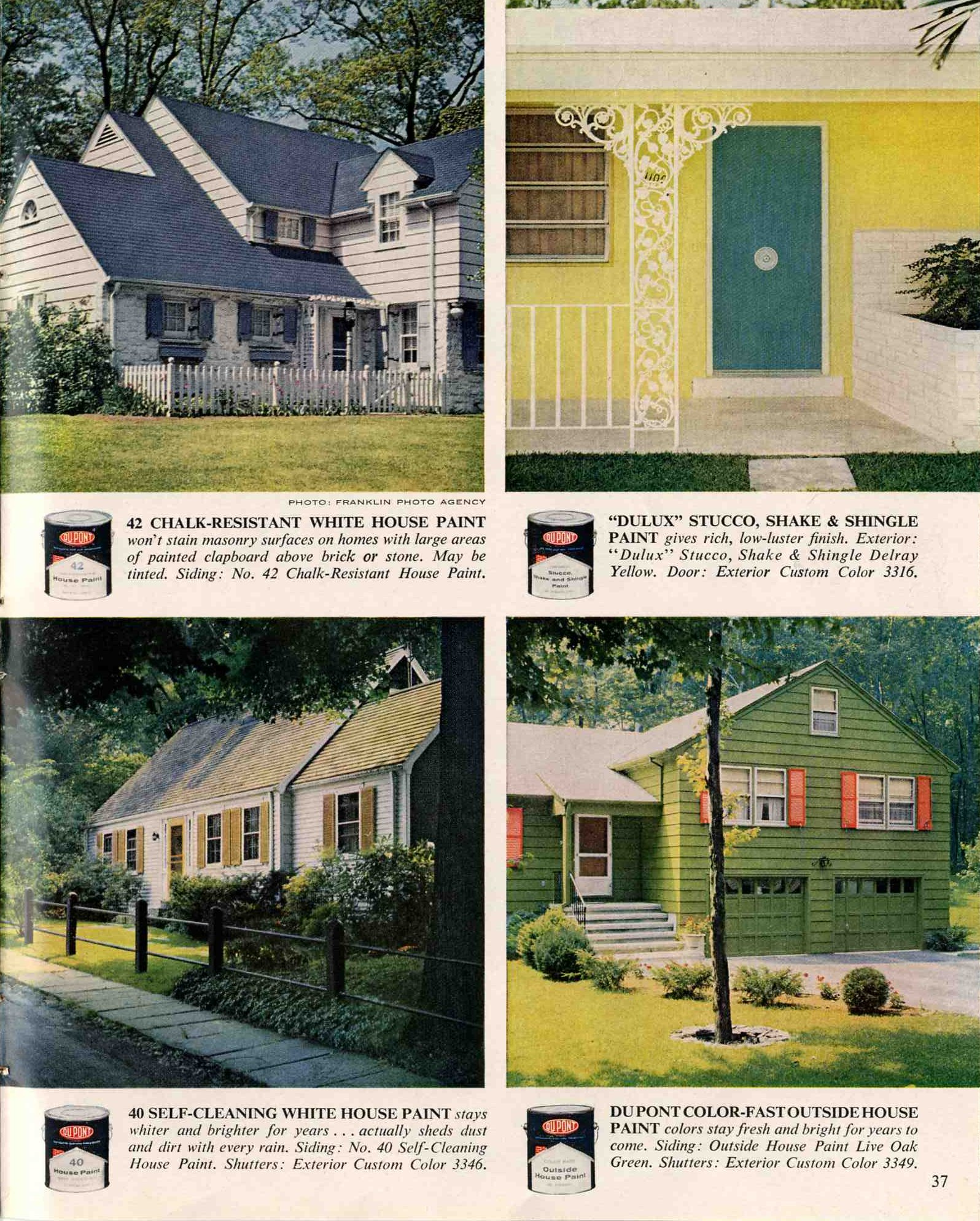 1960 Exterior House Painting Combinations