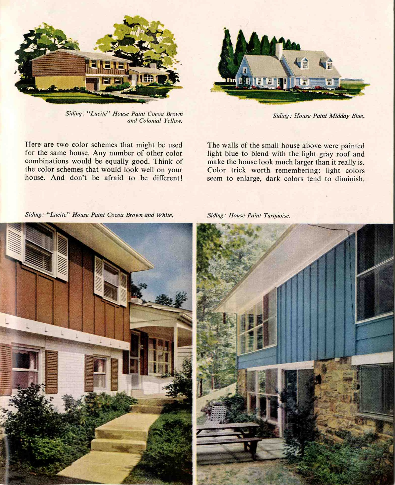 exterior house color combination. 1960-exterior-house-painting-schemes exterior house color combination