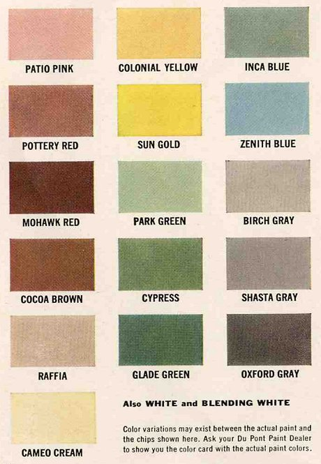 Broadmoor Neighborhood News Exterior Colors For 1960 Houses