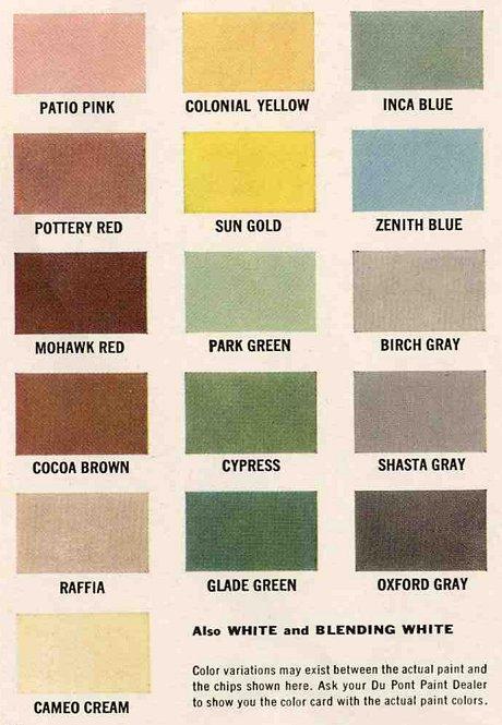 exterior colors for 1960 houses - retro renovation