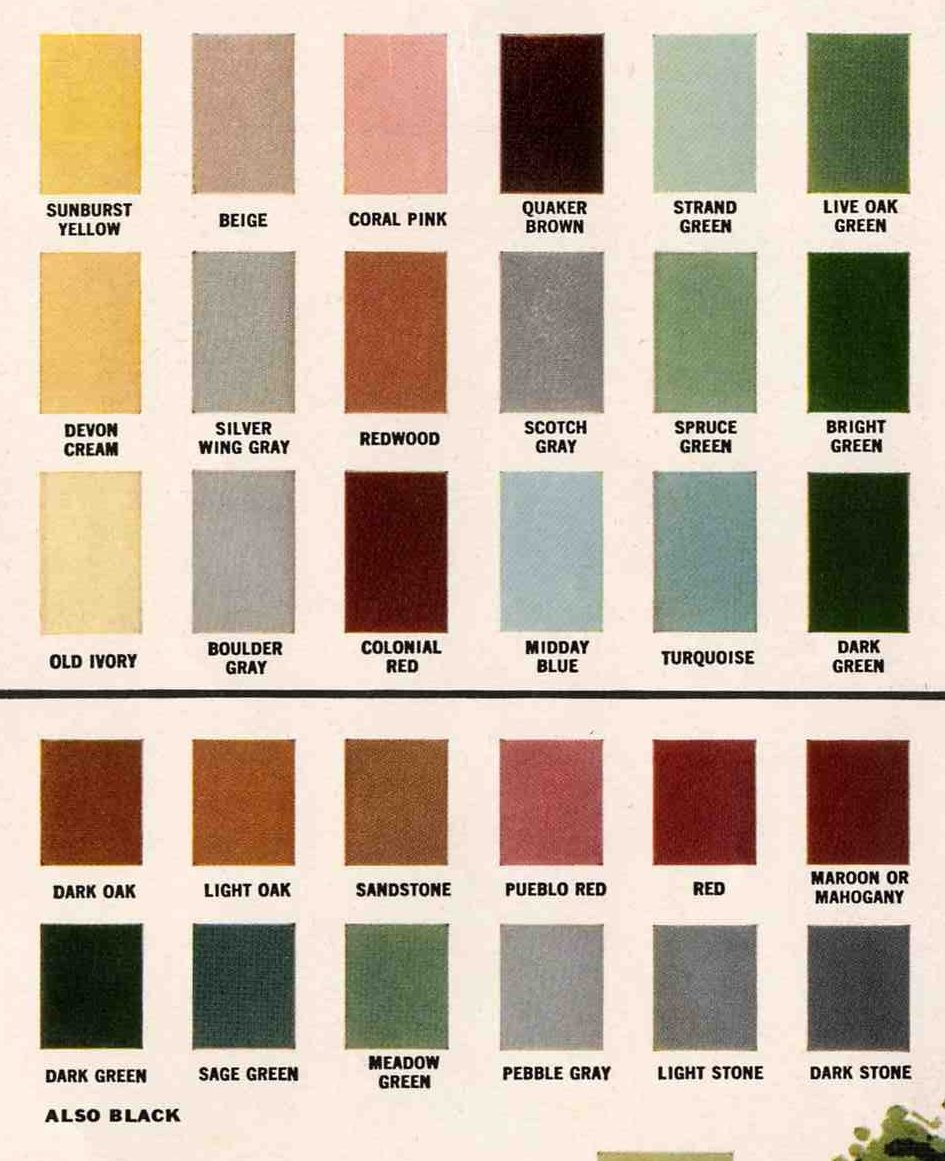 Exterior colors for 1960 houses