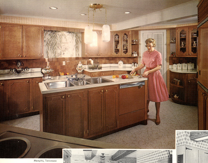 1960s Wood Mode Kitchen Cabinets