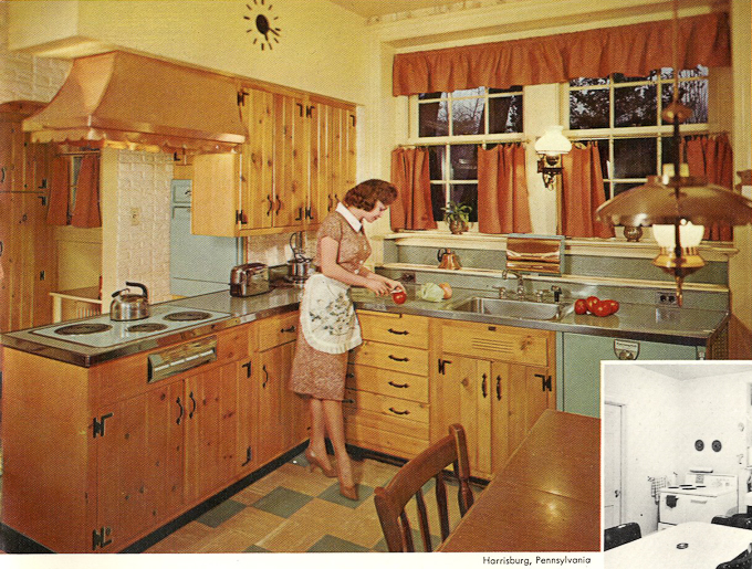 Wood mode kitchens from 1961 slide show of 15 photos for 60s kitchen ideas