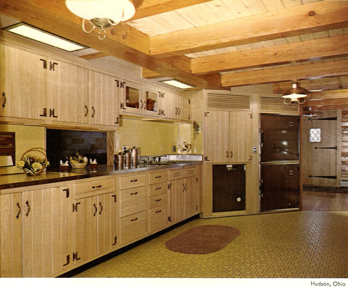 Vintage Wood Mode Kitchen Cabinets Midcentury