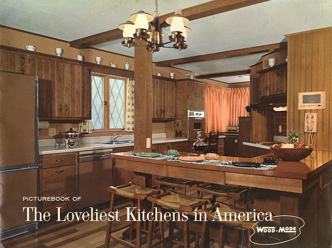 Vintage Wood Mode Kitchen Cabinets 1961
