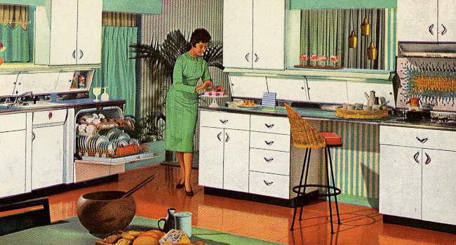 Decorating a 1960s kitchen 21 photos with even more for Retro kitchen ideas 1970