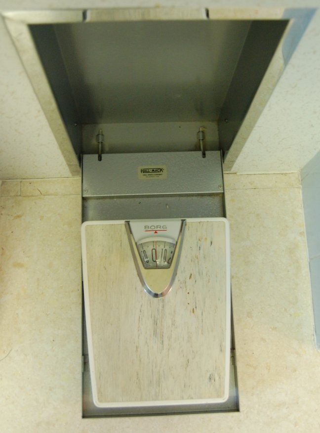 1960s Hall Mack Recessed Bathroom Scale Borg Jpg