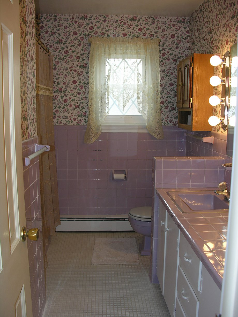 Lilac bathroom groovy baby 1965 retro renovation for Pictures for your bathroom