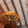1970s-chandelier-with-amber-glass