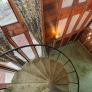 70s-house-spiral-staircase-green-shag