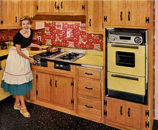 wood with yellow caloric retro kitchen products and ideas   retro renovation  rh   retrorenovation com