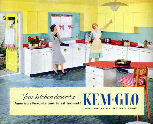 Yellow And White Kitchen Kem Glo