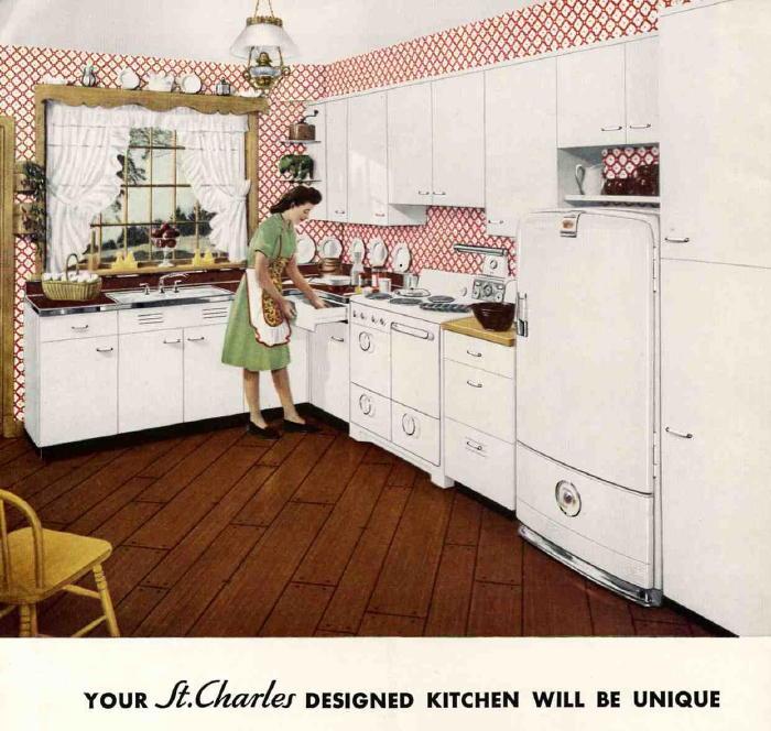 Retro Kitchen Illustration: Retro Renovation