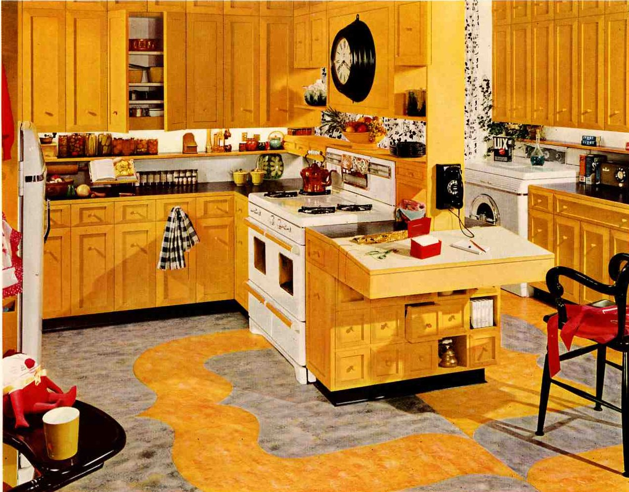 Mainstream main street mass produced middle class homes for Kitchen design 70s
