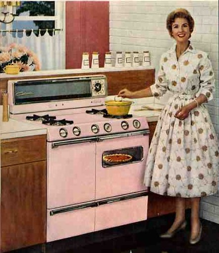 Retro Woman In Kitchen: 1950's Kitchens And Some Bathrooms, Too