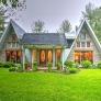 Retro-A-frame-house-exterior
