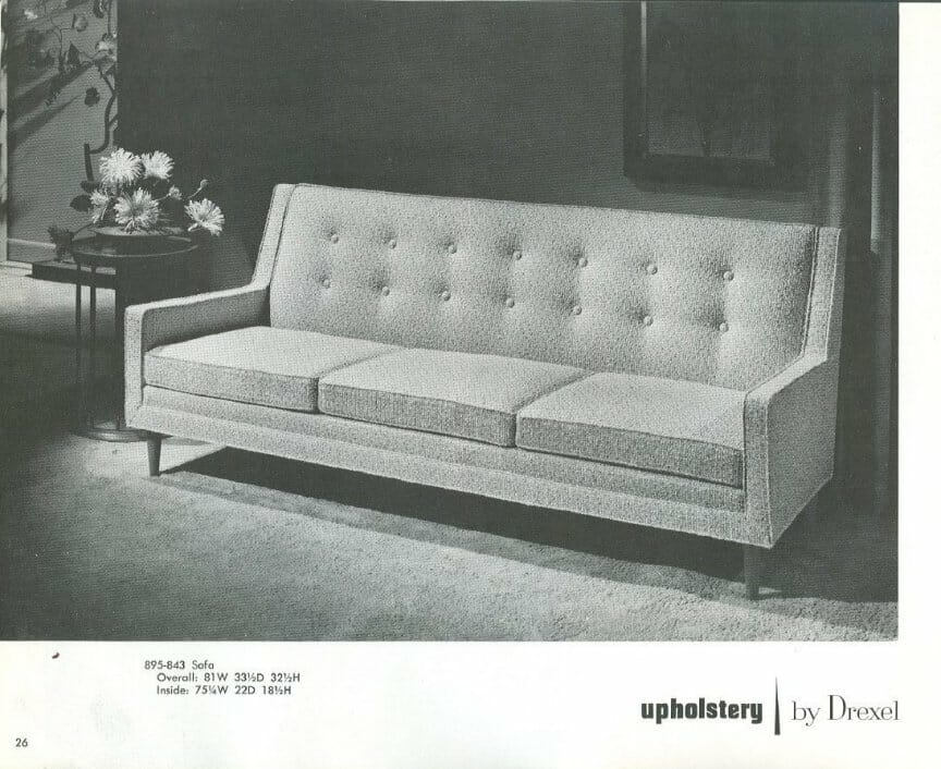 Attractive Drexel Profile Sofa.JPG