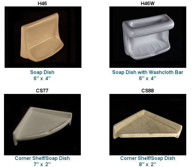 Recessed Ceramic Soap Dishes Amp More In 33 Colors From Hcp
