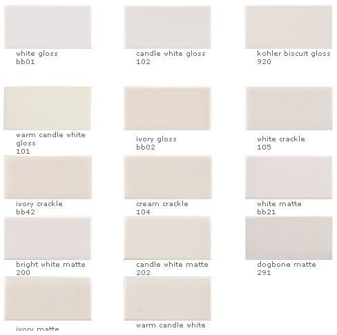 Ceramic tile in 147 colors and 26 sizes from Ann Sacks Elements ...
