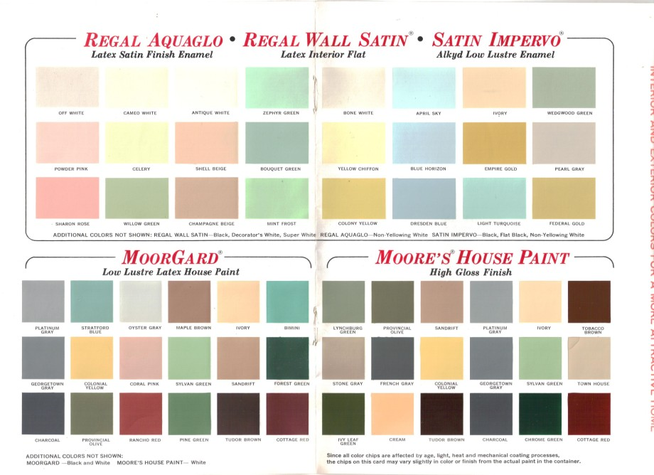15 pages of brady bunch house colors 1969 retro renovation - Paint colors for home interior ...