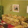 1969-yellow-flower-print-sofa