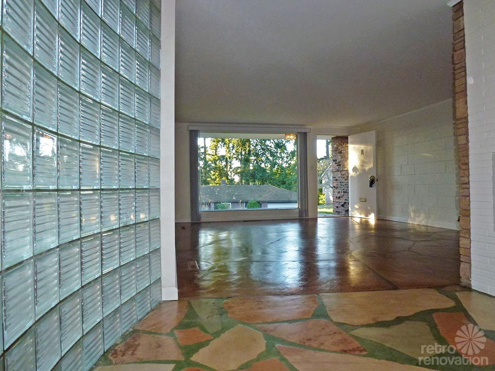 1955 mid century modern house time capsule just 1 300 s Mid century modern flooring