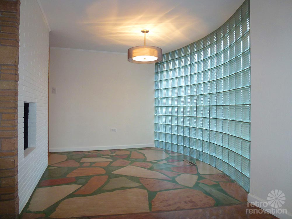 1955 mid century modern house time capsule just 1 300 s for Curved glass wall